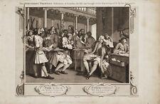 INDUSTRIOUS PRENTICE ALDERMAN OF LONDON - Incisione Originale 1700 Hogarth Cook