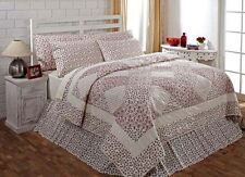 ENGLISH COTTAGE 3 PC TWIN BEDDING SET ~ 1 QUILT ~ 1 STANDARD SHAMS ~ 1 BED SKIRT