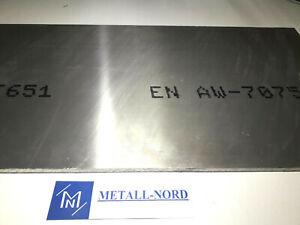 AW-7075 Aluminiumplatte 1000x100x15mm ZUSCHNITT Hochfest AlZnMgCu1,5 Alu Metall