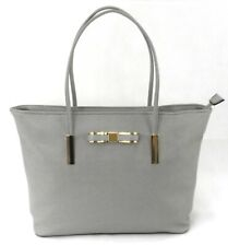 Womens Designer Bow Evening Casual Everyday Shoulder bag Tote Handbag Purse Grey