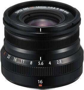 Fujifilm XF 16mm F2.8 R Weather Resistant Lens, Black