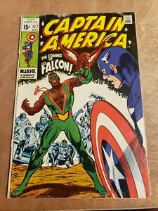 CAPTAIN AMERICA #117 1st Appearance of The Falcon 1969 MCU See Pictures