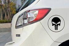 Punisher Spiegel Auto Aufkleber Sticker 9cm x 12cm Fun Tankdeckel