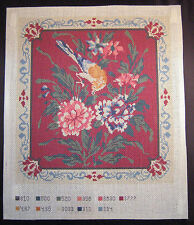 Printed Needlepoint Canvas Bird Design from The Henry Sheldon Museum