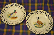 Pair of?LeftonScalloped Gold Trimmed Decorative Plates of Mallard&Canadian Goose