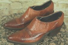 NOCONA BOOTS WOMENS SLIP ON WESTERN SNAKESKIN SHOES ANKLE SIZE 4.5US EXCELLENT!!