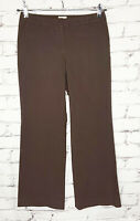 "Semantiks Womens Dress Pants Size 6P Brown Trousers Career 29""Inseam Rayon Blend"