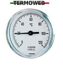 Termometro bimetallico con guaina-cassa inox scala 0/120°-attacco posteriore