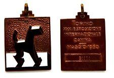 Medaglia Con Smalti Torino XXX Esposizione Internazionale Canina Maggio 1950 Bro