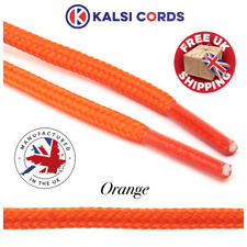 ORANGE 5MM ROUND ROPE SHOE LACES BOOT TRAINER HIKING BOOTLACE SHOELACE 1 PAIR