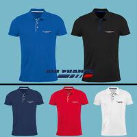 Homme Air France Polo T Shirt Logo Brodé Avion Slim Vêtements Accessoires