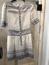 CHLOE Dressy Silk Shorts Romper Creme Summer Vintage T 40 Yellow Buttons Pocket