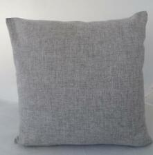 Mid Grey Solid Double Sided Linen Look Large European 60cm Cushion Cover