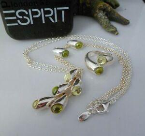 Esprit Schmuckset: Halskette, Ring und Ohrstecker in 925 Silber Top Zustand