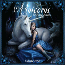 Anne Stokes 2018 Unicorn Calendar Christmas Gift Artist Mythical Pagan Wicca