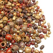 500 Wooden Beads for Jewelry Making - Painted Assorted African Beads