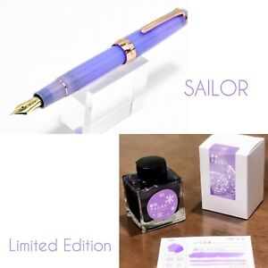 SAILOR Fountain Pen & Ink Limited Edition Amethyst 21K Professional Gear Purple