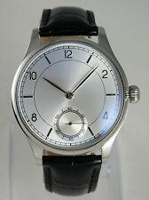 Montre classique mouvement mécanique type UNITAS 6498 SILVER SUNRAY watch