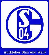 Aufkleber + Auto + FC SCHALKE 04 + Blau Weiß + Kratzfest + Waschanlagensicher