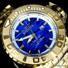 Invicta Men's 70mm Full Sea Hunter Blue Automatic Diamond Accent 24k Gold Watch