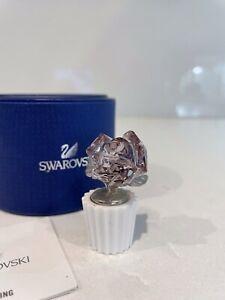 Swarovski Crystal Figurine Pink Rose 5045566 MIB