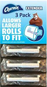 3 NEW CHARMIN TOILET PAPER ROLL EXTENDERS MEGA & SUPER    LONG LIFE METAL SPRING