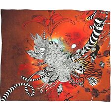 Deny Designs Iveta Abolina 'Wild Lilly' Fleece Throw Blanket 82 x 62, Retail $84