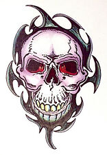 1 x sheet of TRIBAL BIKER GOTHIC SKULL TEMPORARY TATTOO / TY194