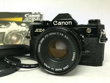 [NEAR MINT] Canon AE-1 Black SLR Film Camera w/ FD 50mm f/1.8 S.C. Lens JAPAN