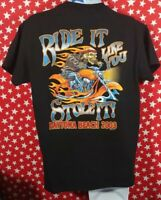 Ride It Like You Stole It Bike Week 2003 Daytona Beach T-Shirt Size M/L