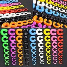 Colourful silicone horseshoe piercing hypoallergenic metal free septum allergy