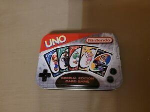 Vintage 2004 Nintendo Special Edition UNO Card Game Tin