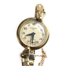VINTAGE Croton EL Placcato Oro Tonalità orologio da polso 15.2Cm