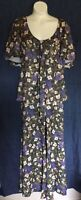 Handmade 70s Floral Bell Bottom Pantsuit M/L