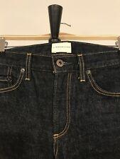 Simon Miller Womens Wide Leg Zuna Red Line Selvedge Denim Jeans Raw Blue Size 25