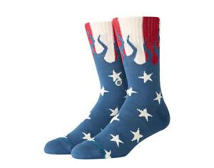 Stance Classic Americana Pride Red/White/Blue Crew Socks M556B19PRI-NVY Large
