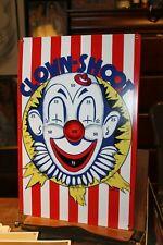 "Retro Planet Heavy Metal Sign 11-1/2"" x 17-1/2"" Clown-Shoot Circus Reproduction"