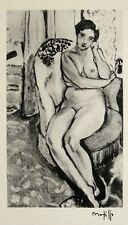 "HENRI MATISSE ""Dessin"" 1920 Hand Signed Lithograph"