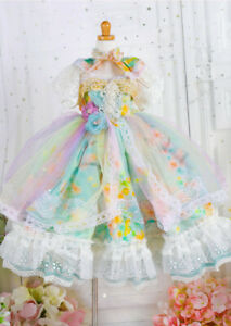 1/3 DDS BJD Outfit Doll Clothes Lolita Language Flowers of Full Dress+Headwear