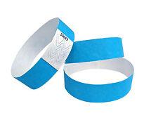 100 Bandes de Tyvek-Bracelets bleu événementielles-néon/néon bleu/beu fluo