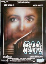 Affiche FREQUENCE MEURTRE André Dussollier CATHERINE DENEUVE 40x60