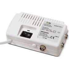 Amplificateur Antenne pour TV Interieur UHF/VHF 2 Sorties Tele Anti Pixels Blanc