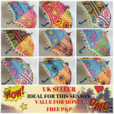 10 Wholesale Indian Wedding Parasol Embroidery Women Umbrella Mandala Multicolor