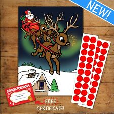 40 Player PIN THE NOSE ON THE REINDEER - Children's or Office Christmas Game