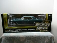 1/18 ~ AMERICAN MUSCLE AUTHENTICS 1966 CHEVROLET CHEVELLE SS 396 #417 OF 500