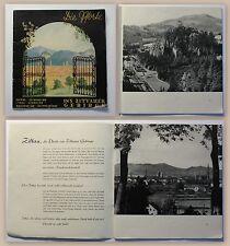 Prospekt Reisebroschüre Zittauer Gebirge um 1930 Reisen Luftkurorte Sachsen xz