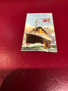 TITANIC CARD 1911 WHITE STAR CADBURY CHOCOLATE SINGLE CARD ISSUE