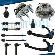 Chevy Silverado 4x4 Front Suspension Kit 12pc Wheel Hubs Control Arms Tie Rod