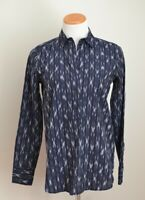 NWT J Crew Women's Long Sleeve Pullover 1/2 Button Down Blue Pattern Size 0