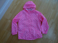 TU girls pink flamingo hooded lightweight jacket coat AGE 9 - 10 YEARS EXCELLENT